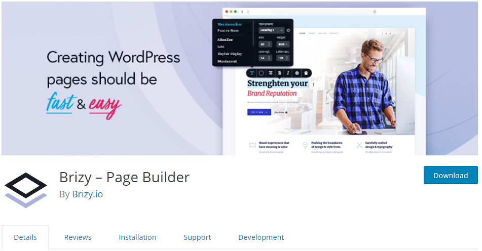 visual page builder