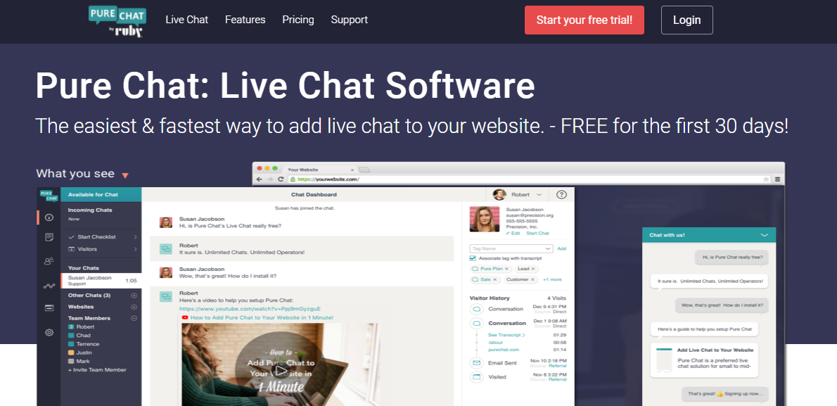 live chat software