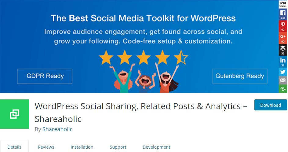 free WordPress social media plugin
