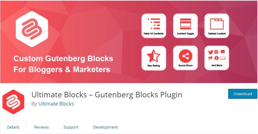 WordPress Gutenberg Blocks plugin