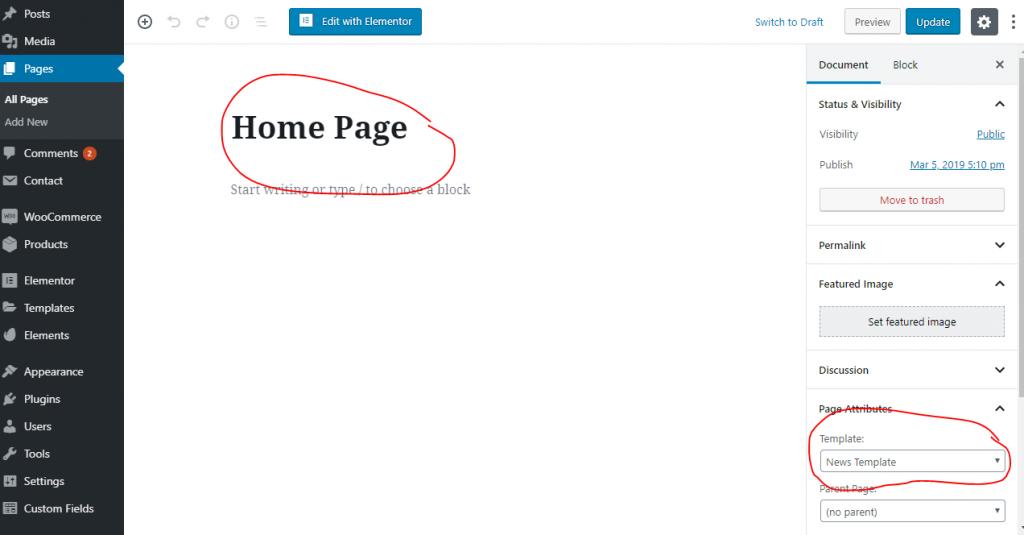 Go To Homepage >> Setup Homepage On Mantranews Theme Mantrabrain Docs